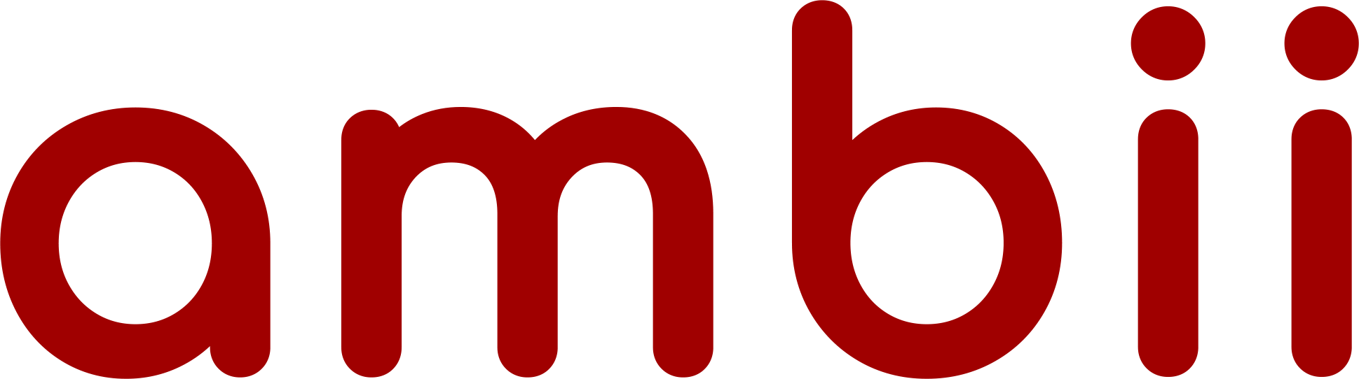Ambii text logo (red)